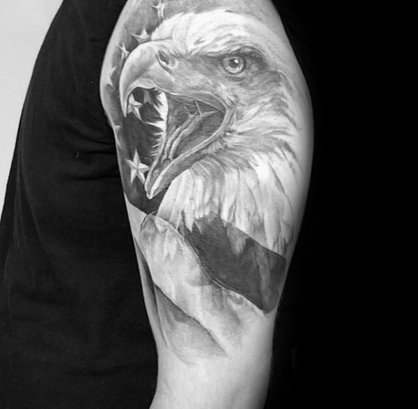 60 badass eagle tattoos for men bird design ideas. Black Bedroom Furniture Sets. Home Design Ideas