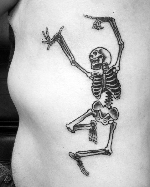Guys Cool Dancing Skeleton Tattoo Ideas