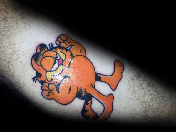 Guys Cool Garfield Tattoo Ideas