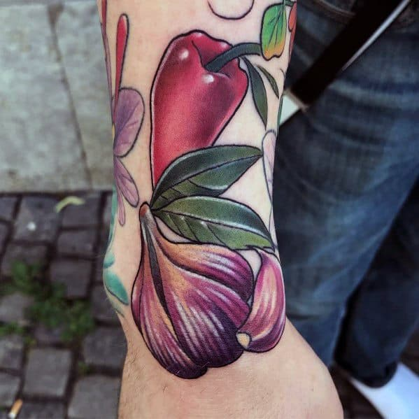 Guys Cool Garlic Tattoo Ideas