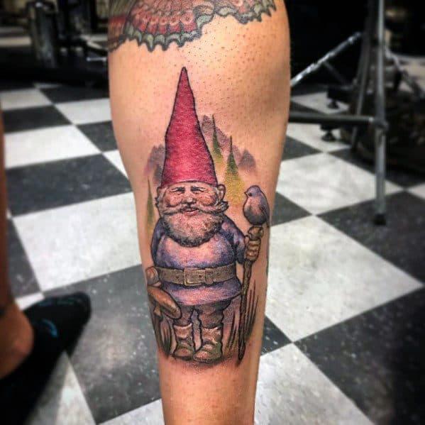 Guys Cool Gnome Tattoo Ideas