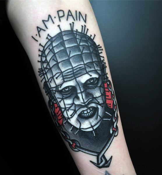 Guys Cool Hellraiser Tattoo Ideas