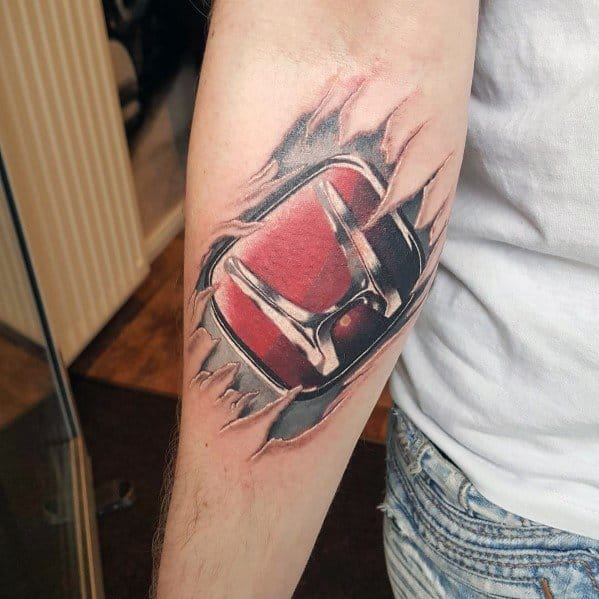 Guys Cool Honda Tattoo Ideas
