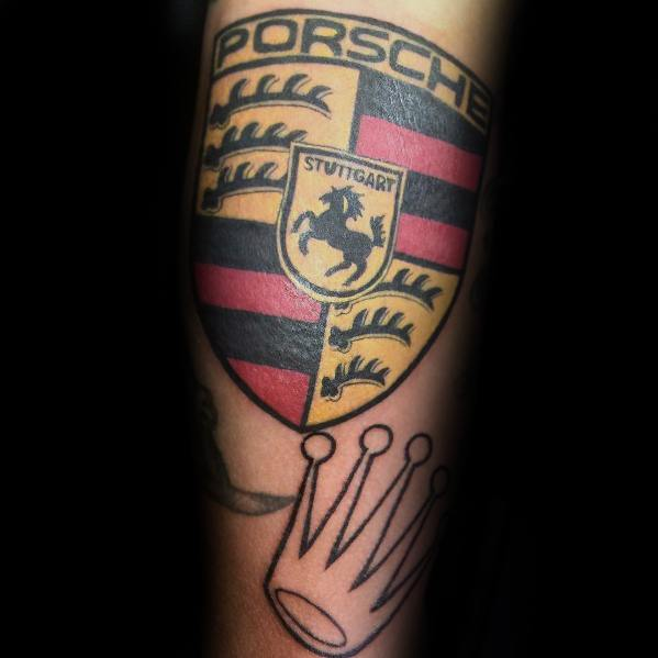 40 porsche tattoo ideas for men german automobile designs. Black Bedroom Furniture Sets. Home Design Ideas
