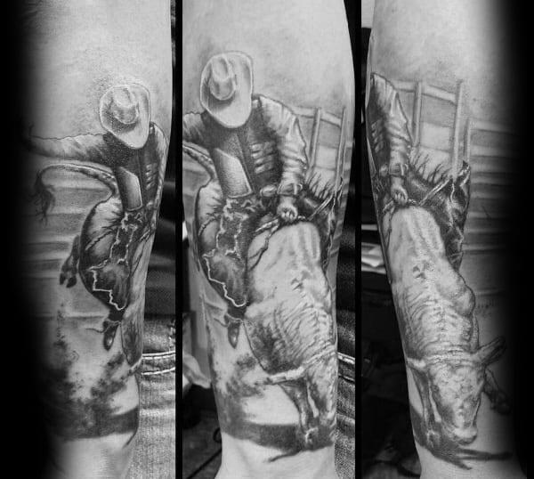 Guys Cool Rodeo Tattoo Ideas