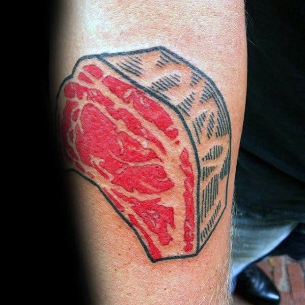 Guys Cool Steak Tattoo Ideas