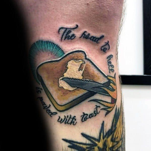 Guys Cool Toast Tattoo Ideas