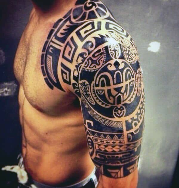 Guys Cool Tribal Arm Tattoos
