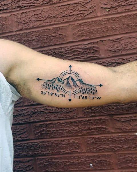 Guys Coordinate Tattoos