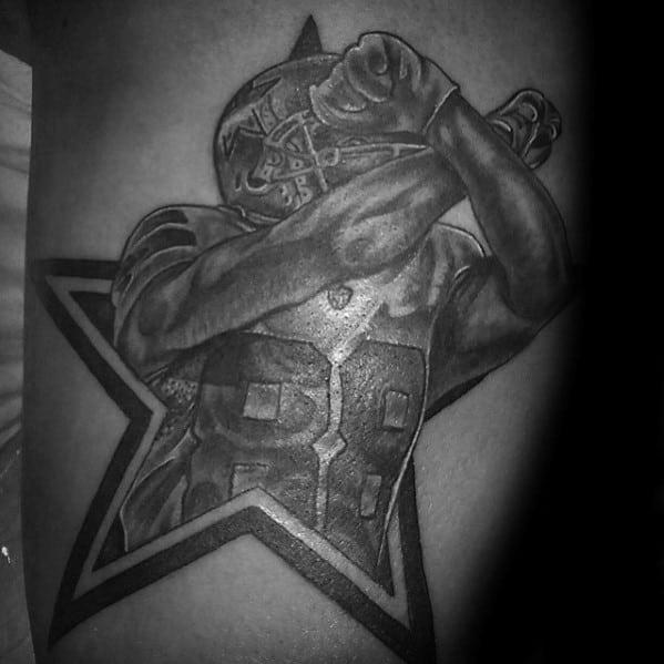 Guys Dallas Cowboys Football Player Nfl Arm Tattoo Designs