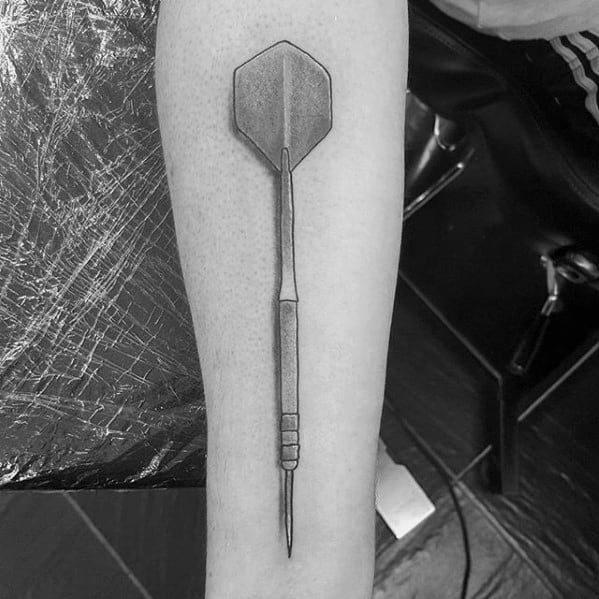 Guys Dart Tattoo Design Ideas On Inner Forearms