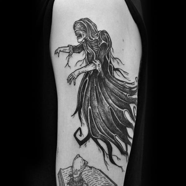 Guys Dementor Tattoo Design Ideas