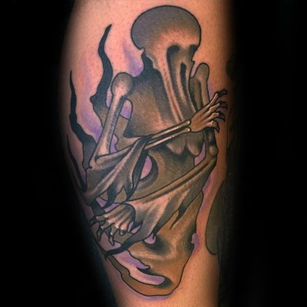 Guys Dementor Tattoo Designs