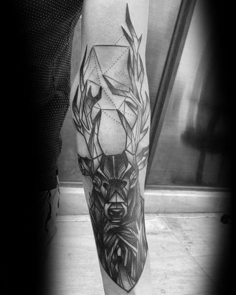 Guys Design Ideas Elk Tattoos