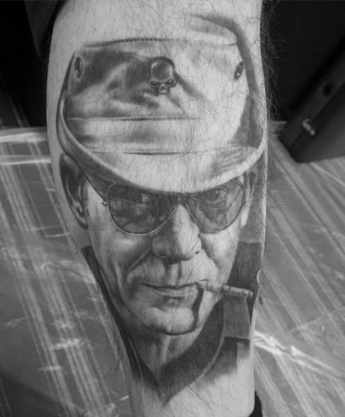 Guys Design Ideas Hunter S Thompson Tattoos