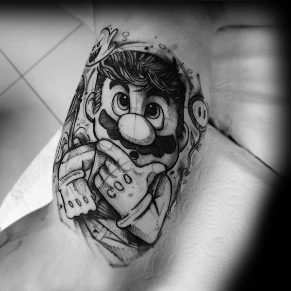 Guys Design Ideas Mario Tattoos