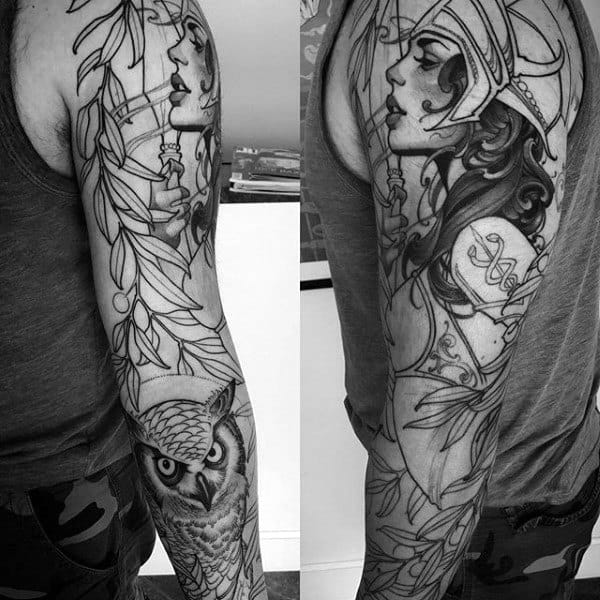 60 Athena Tattoo Designs For Men