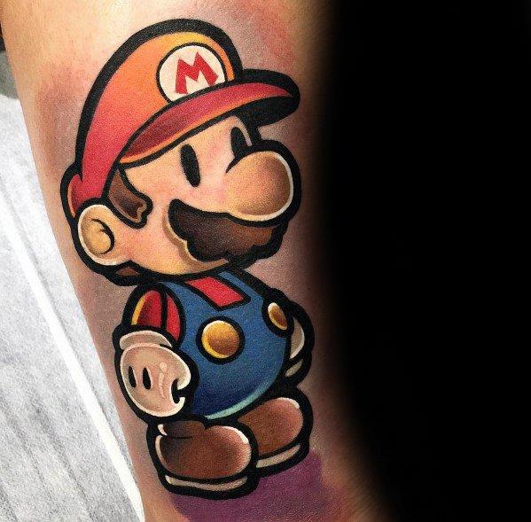 Guys Designs Mario Tattoos