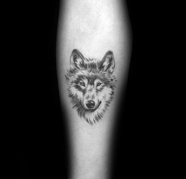 Guys Designs Siberian Husky Tattoos