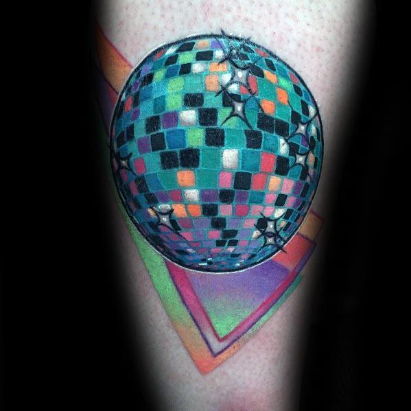 Guys Disco Ball Tattoos