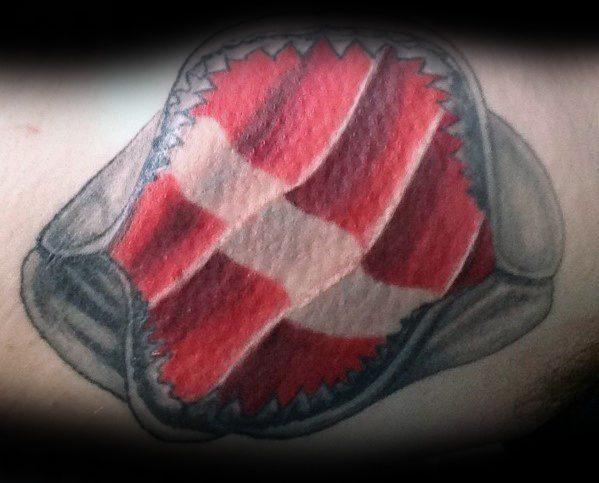 Guys Diving Flag Tattoo Design Ideas