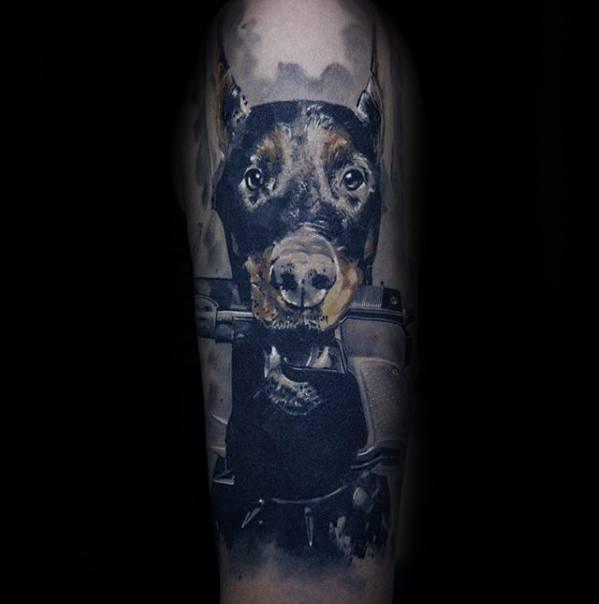 Guys Doberman Tattoos