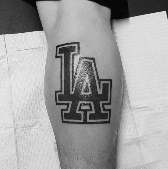 Guys Dodgers Tattoo Deisgns
