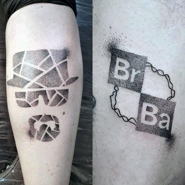Guys Dotwork Breaking Bad Tattoo Designs