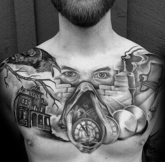 Guys Edgar Allan Poe Tattoos