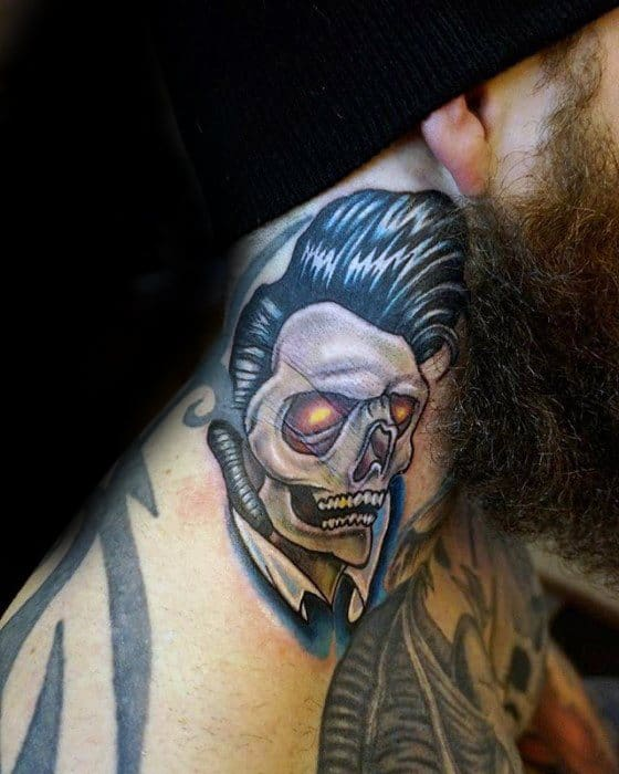 Guys Elvis Presley Tattoo Design Ideas