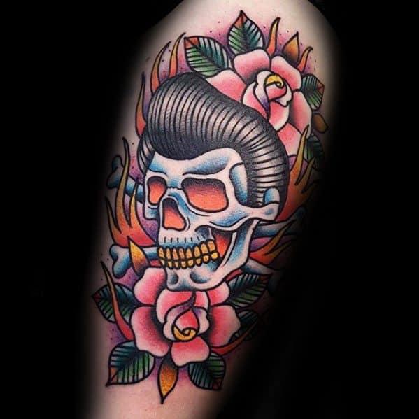 Guys Elvis Presley Tattoo Designs