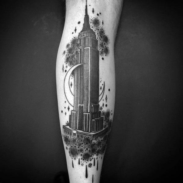 Guys Empire State Building Tattoos