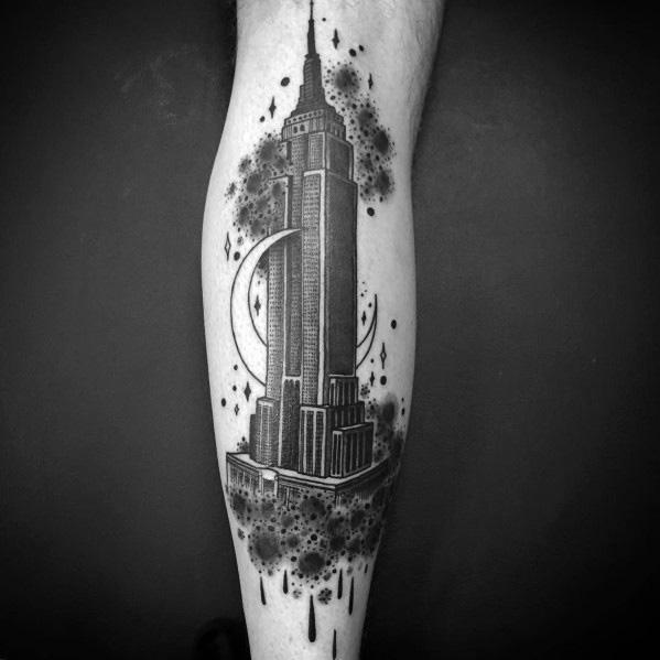 50 Empire State Building Tattoo Ideas For Men – Skyscraper Designs