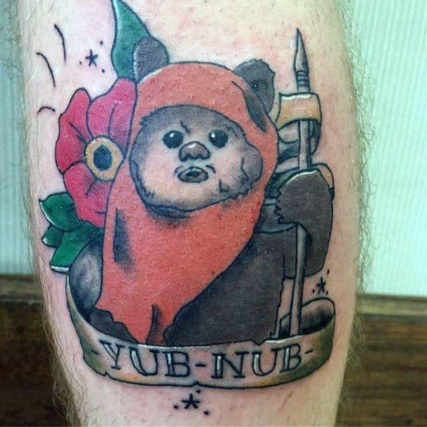 Guys Ewok Tattoo Designs