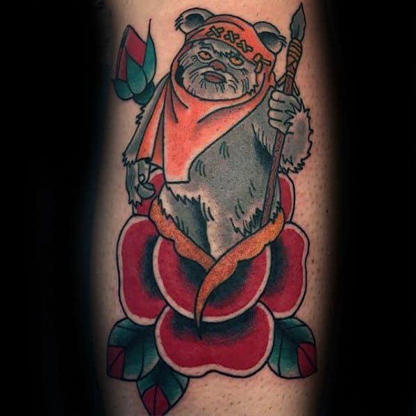 Guys Ewok Tattoos