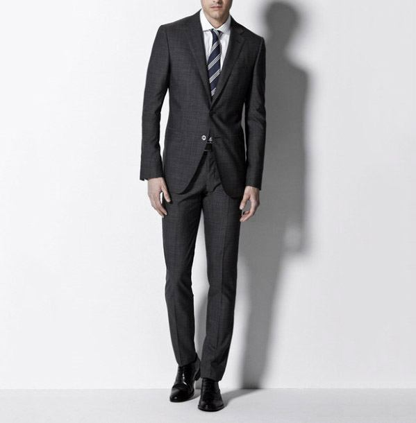 Guys Fashion Ideas Charcoal Grey Suit Black Shoes Styles