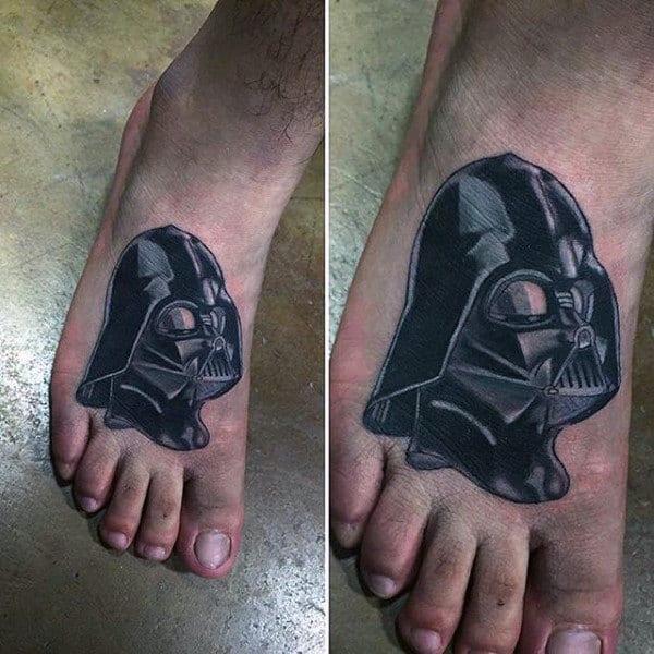 Guys Feet Darth Vader Tattoo