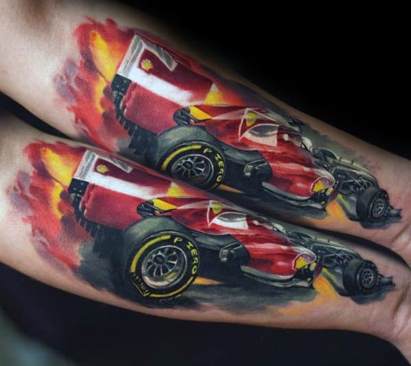 50 Ferrari Tattoo Ideas For Men Italian Sports Car Designs