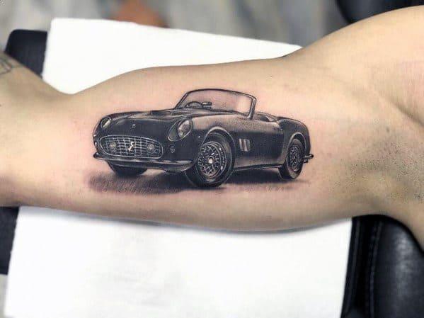 Guys Ferrari Tattoos
