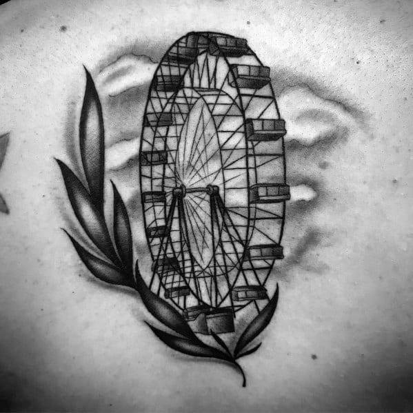 Guys Ferris Wheel Tattoo Design Ideas