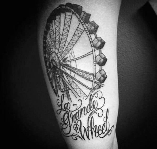 Guys Ferris Wheel Tattoos