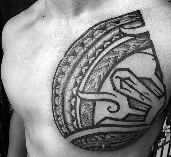 Guys Filipino Sun Tattoo Designs