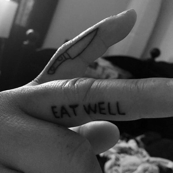 Guys Fingers Eat Well Culinary Tattoo Ideas