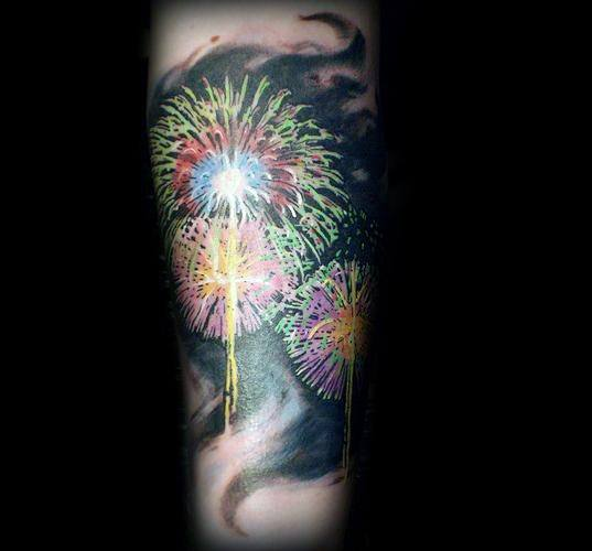 Guys Fireworks Tattoos