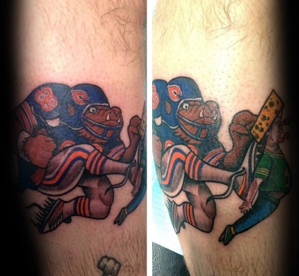 Guys Football Player Forearm Chicago Bears Tattoos