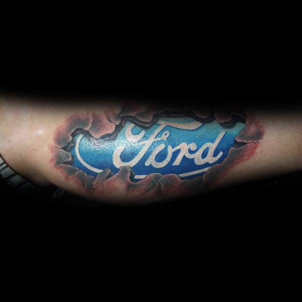 Guys Ford Tattoo Design Ideas