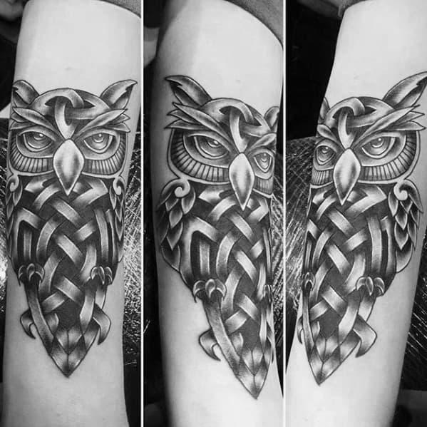 30 celtic owl tattoo designs for men knot ink ideas. Black Bedroom Furniture Sets. Home Design Ideas