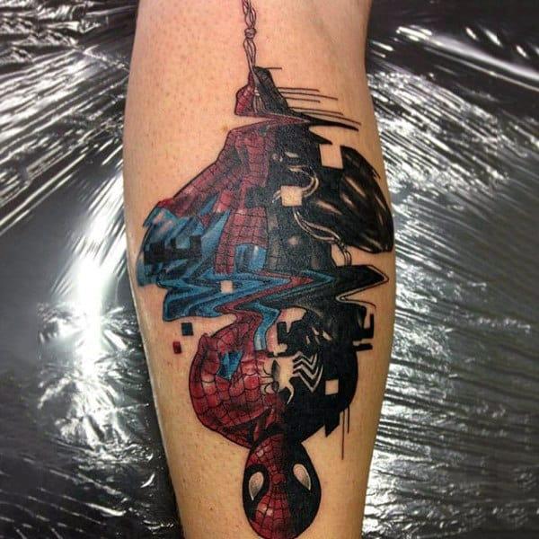 Guys Forearm Spiderman Tattoo