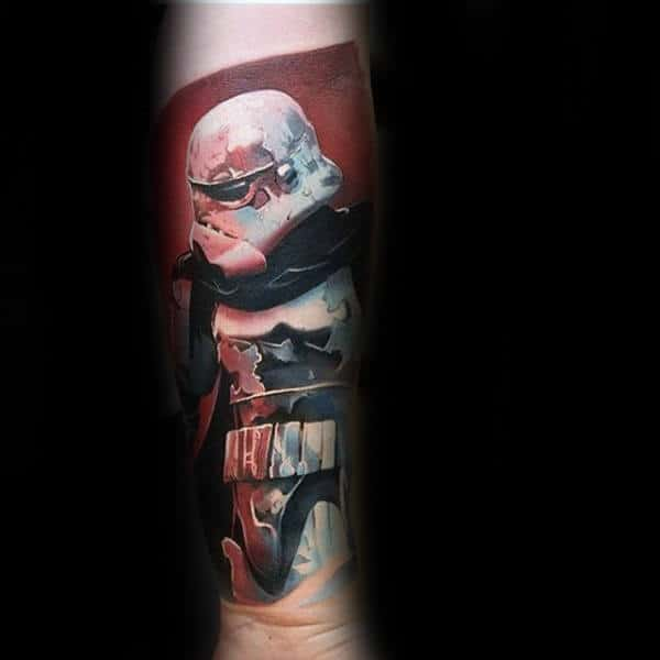 Guys Forearm Star Wars Themed Tattoo