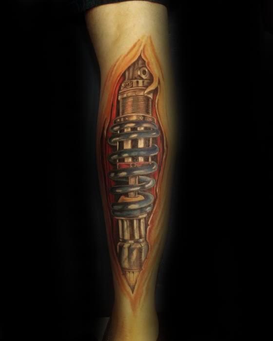 Guys Forearm Suspension Tattoo Design Ideas